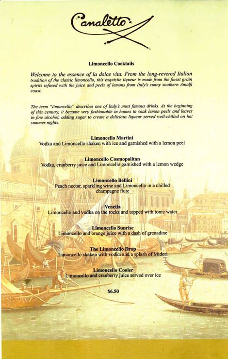 Holland And Holland >> Holland America Canaletto Cocktail List