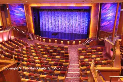Brilliance of the Seas Cruise Ship Entertainment Theater Photos © M. Timothy O'Keefe www.GuideToCaribbeanVacations.com